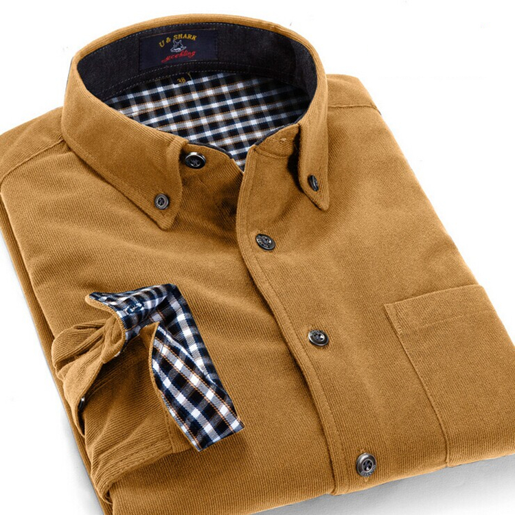 Mens Shirts New Fashion 2015 Spring Fall British Style Long Sleeve Slim Fit Casual Shirt Men