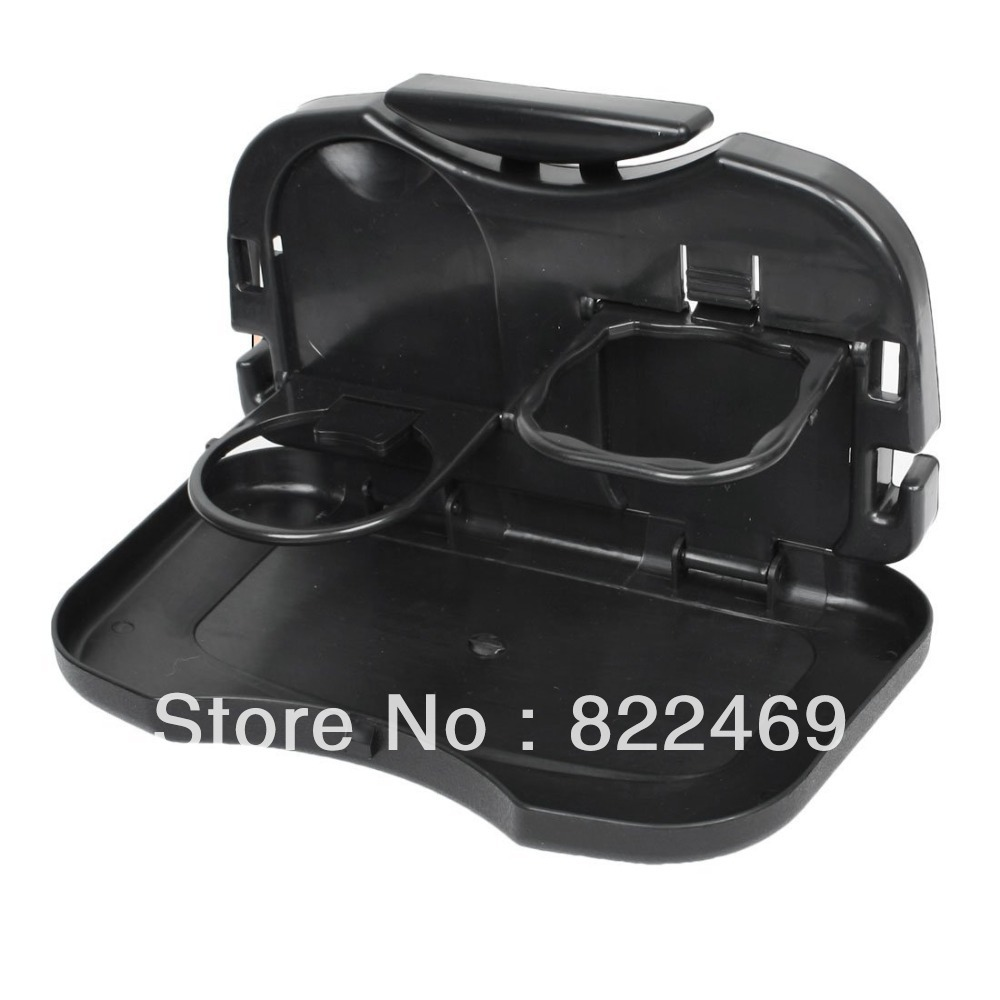 Stylish Car Seat Foldable Food and Drink Tray Cup Holder Car Restaurant For All Car Decor -Black(China (Mainland))