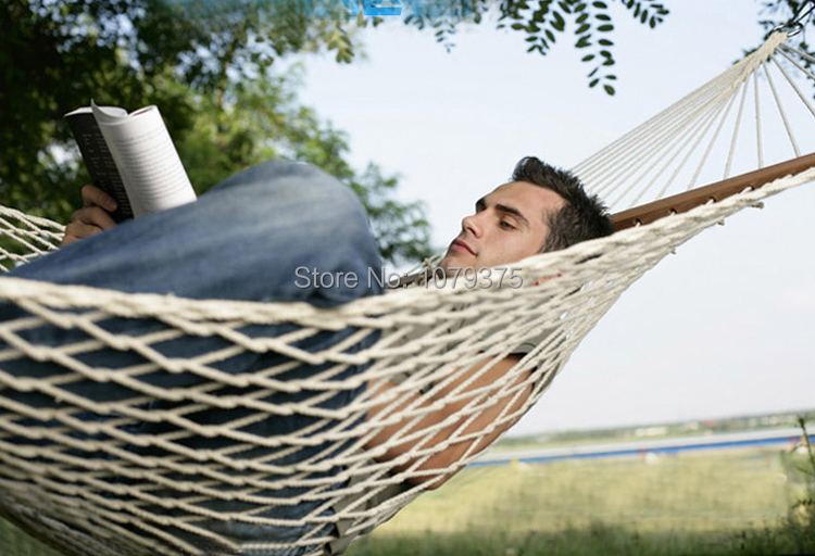 Single or Double Hammock Chair Outdoor Hammock Stand Siesta Hammock ...