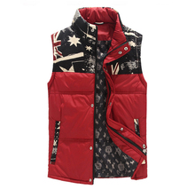 2015 Top quality men thick warm down sleeveless jackets winter outdoor vest wasitcoat outwear 4 colors M-5XL(China (Mainland))
