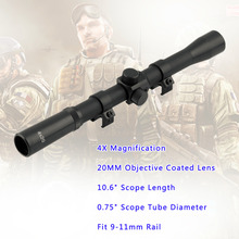 Buy 1Pcs Mounts Hunting 4x20 Air Rifle Telescopic Scope Sights Sniper Scope Riflescopes Black Wholesale for $5.45 in AliExpress store
