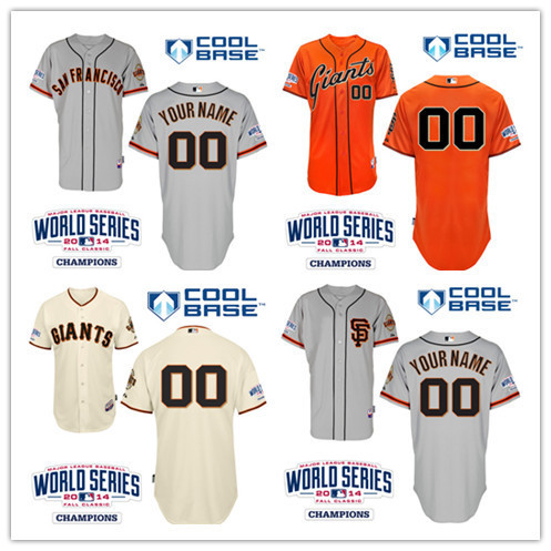Top Quality San Francisco Giants Personalized Home Jersey  Customized Baseball Jersey  Mix Order Free Shipping(China (Mainland))