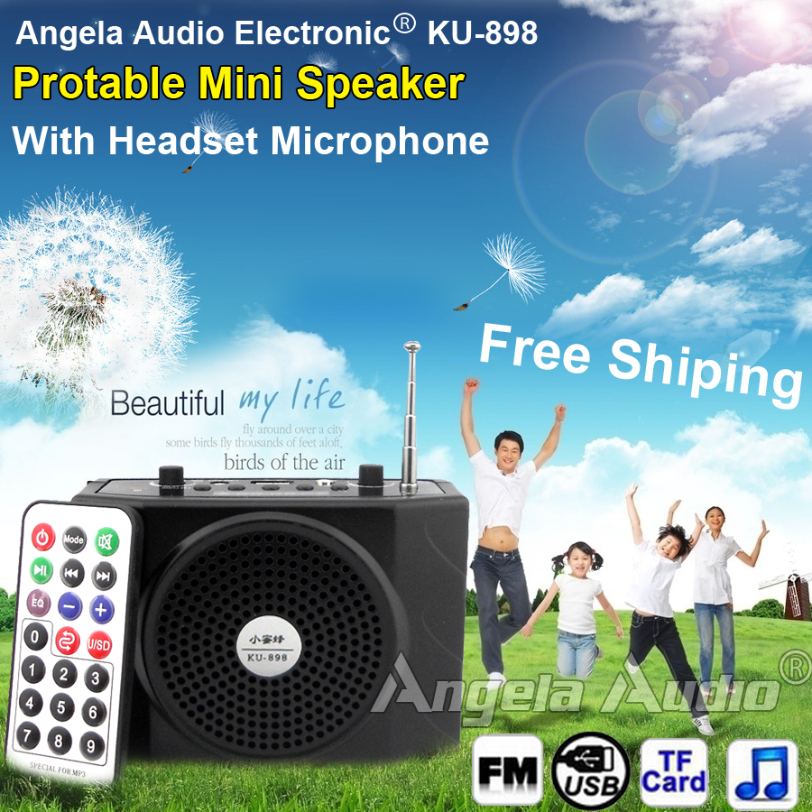 Гаджет  Free Shipping Loudspeaker With Microphone Voice Amplifier Booster Megaphone Speaker For MP3 Teaching Tour Guide Sales Promotion None Бытовая электроника