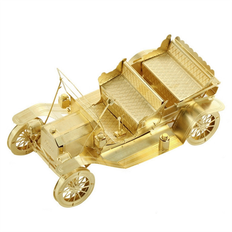 3D Metal Model Puzzles 1908 FORD MODEL T Golden Chinese Metal Earth Brass Creative Gifts(China (Mainland))