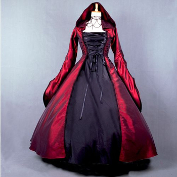 Top Quality Custom Made Size Girls Long Gothic Lolita Dress And Cloak Women Cosplay Witch Vestidos Lolita 23