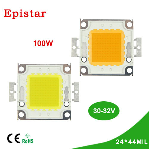 1Pcs Full 100W LED Integrated Chip light Source IC 11000LM High Power lamp Beads 30-32V 24*44mil Epistar SMD COB Floodlight Bulb(China (Mainland))