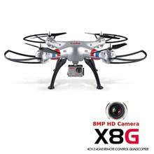 Quadrocopter Dron Syma X8G Drone 2.4 G 4CH con cámara de 5MP HD sin cabeza modo RC Quadcopter helicóptero UAV 6 Gyro eje de balanceo 3D(China (Mainland))