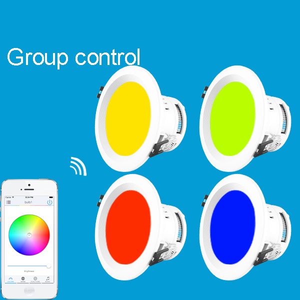 DIY your LED Downlight Each Downlight has its' own WiFi IP address connect phone to this IP and run APP to control it(China (Mainland))