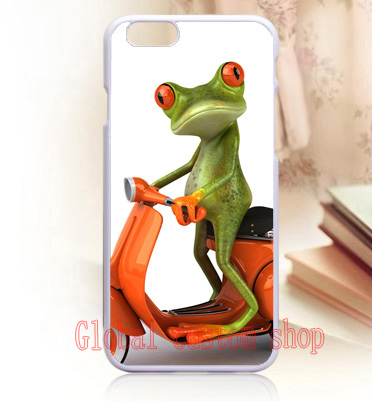Hot frog on bike cover case for iphone 4s 5 5s SE 5c 6 6s Plus iPod touch 4 5 6 Samsung s3 s4 s5 mini s6 s7 edge plus Note 3 4 5(China (Mainland))