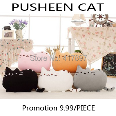 9.99 Promotion 40*30CM Novelty item soft plush stuffed animal doll, anime toy pusheen cat pillow for girl kid(China (Mainland))
