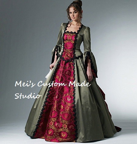 Custom Made 18th Century McCalls Western Bustle Ball Gown / French Renaissance Gown/party Dress/Costume DressОдежда и ак�е��уары<br><br><br>Aliexpress