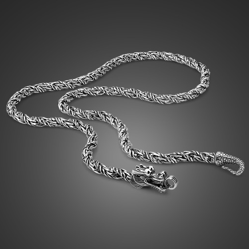 925 sterling silver necklace 2014 genuine solid pure silver dargon necklace<br><br>Aliexpress