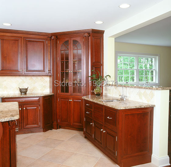 Wood Kitchen Cabinet Country Style Ready Made Wood Kitchen Cabinets