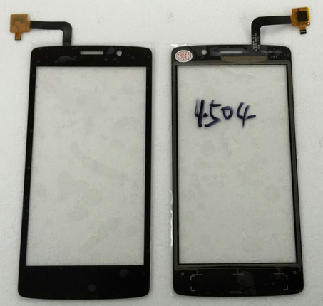 High quality BLACK or WHITE For Fly IQ4504 Touch screen Digitizer panel front glass replacement free shipping