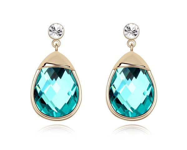 Blue Stud Earrings Brand Jewelry Made With Swarovski Elements Austrian Crystal Cheap Earrings Rose Gold Plated Jewellery EEH0052
