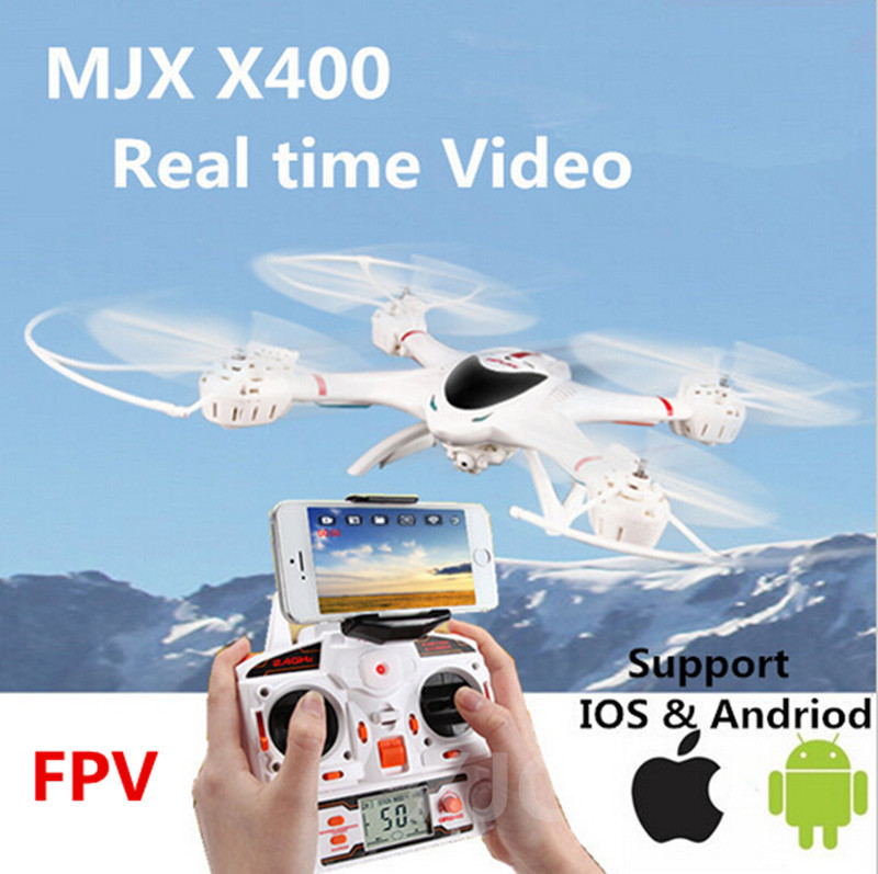 MJX X400 100% Original 2.4G 4CH 6-Axis Remote Control RC Helicopter Quadcopter Toys wifi Drone Can add FPV real-time on video(China (Mainland))