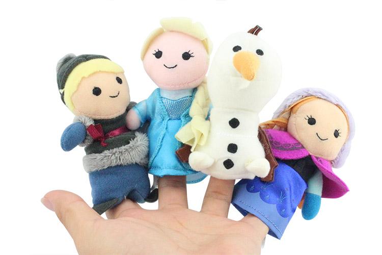 4pcs/set Baby Talkiing Toys Anna Elsa Olaf Kristoff Plush Finger Puppets Stuffed Toys Finger Dolls Free Shipping(China (Mainland))