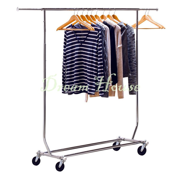 Heavy Duty Garment Rack Adjustable Rod Stand Movable Shelf Frame Hanger Market Showing Scalable Stand 25(China (Mainland))