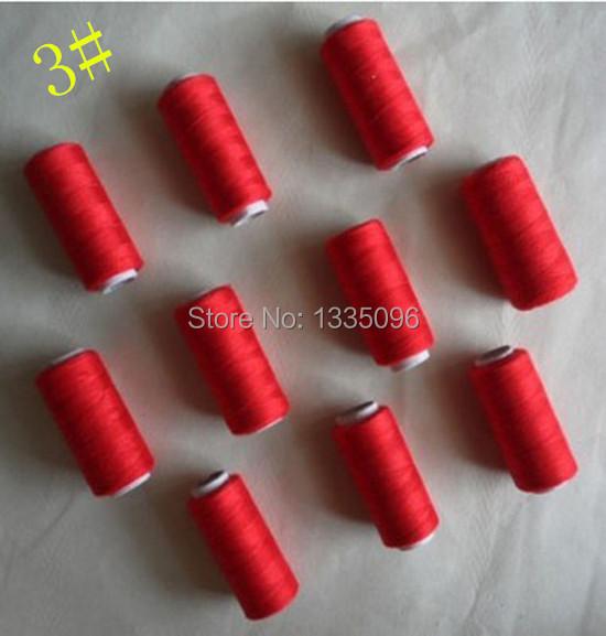 Each spool Free International area 10pcs100% polyester thread 218 yards 3#(China (Mainland))