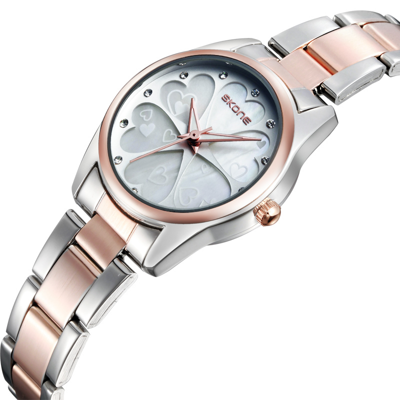 SKONE Women Fashion Watch Casual Watch Stainless Steel Strap Japan Quartz Movement Analog Display Women's Wristwatch(China (Mainland))