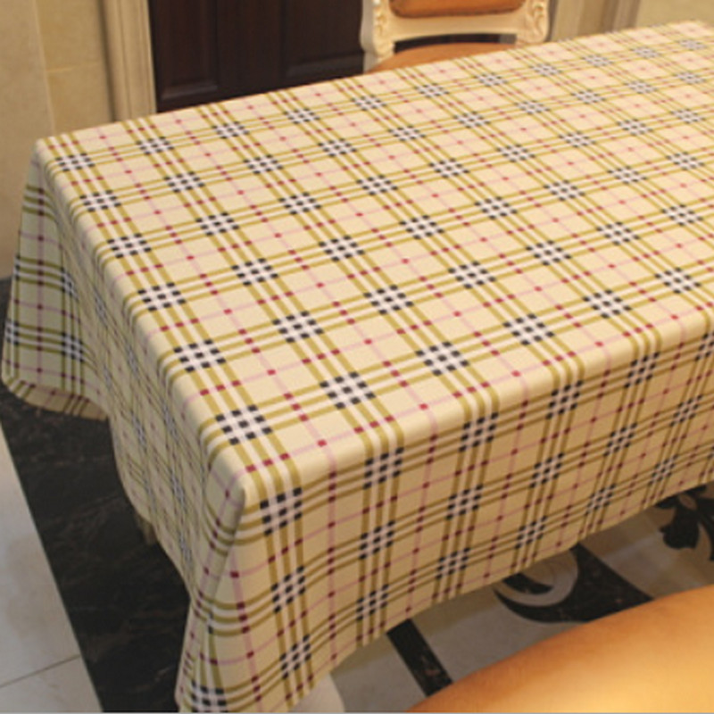 2016 New Mantele PVC Nappe Table Cloth Plastic Waterproof Oilproof Dining Tablecloth Plaid Print Home Coffee Table Cover Overlay(China (Mainland))