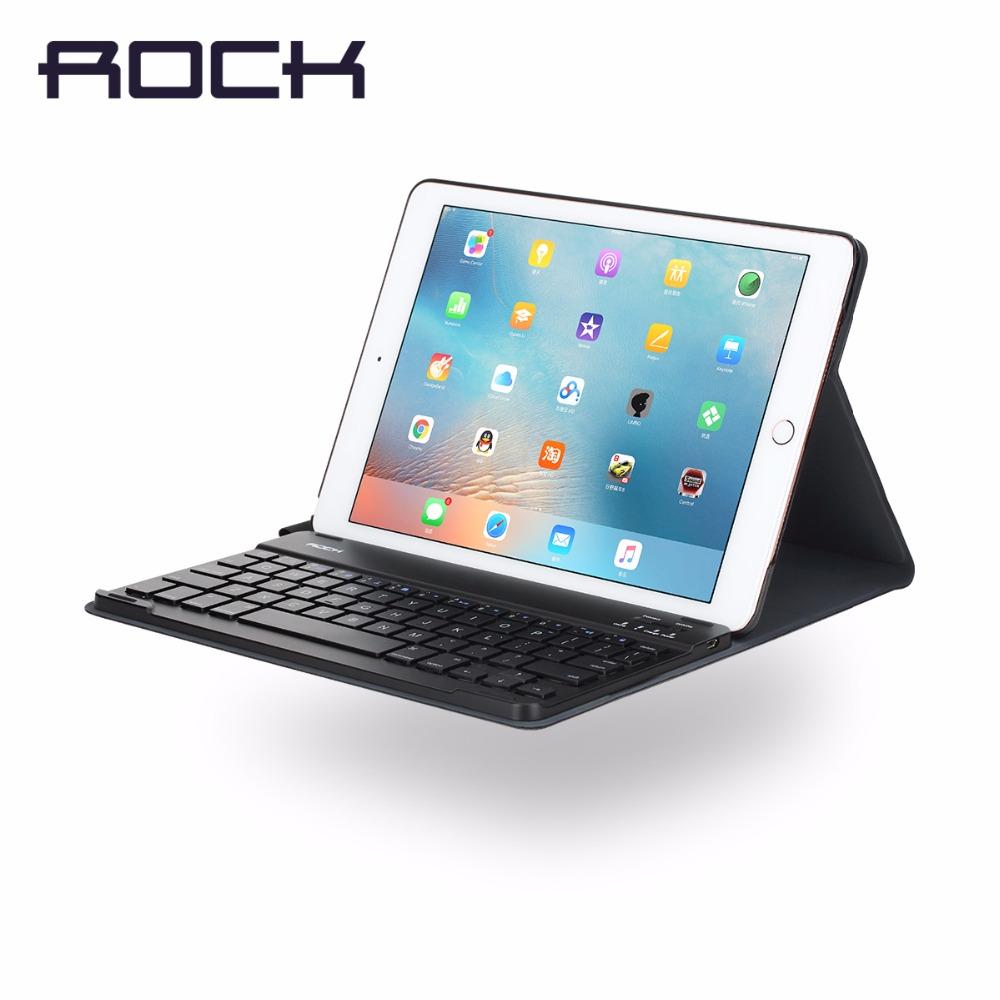 ROCK Bluetooth Keyboard Case for iPad Pro 9.7 inch Bluetooth Keyboard Case Flip case for iPad pro 9.7'' with kickstand(China (Mainland))
