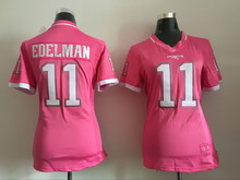 Women ladies all stitched PINK love New England Patriots 12 Tom Brady 87 Rob Gronkowski 11 Julian Edelman,camouflage(China (Mainland))
