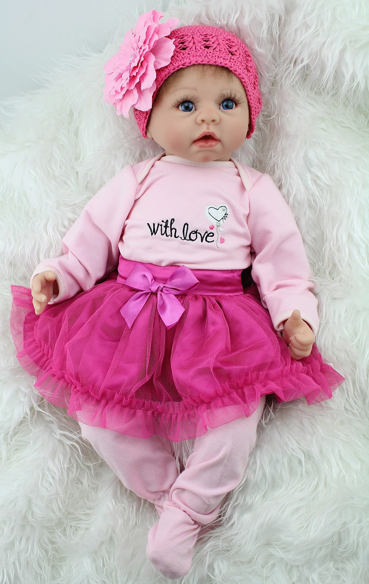 22 inch Soft Like Silicone Reborn Baby Doll Lifelike Realistic Princess Newborn Babies Toys For Girls Gift <br><br>Aliexpress