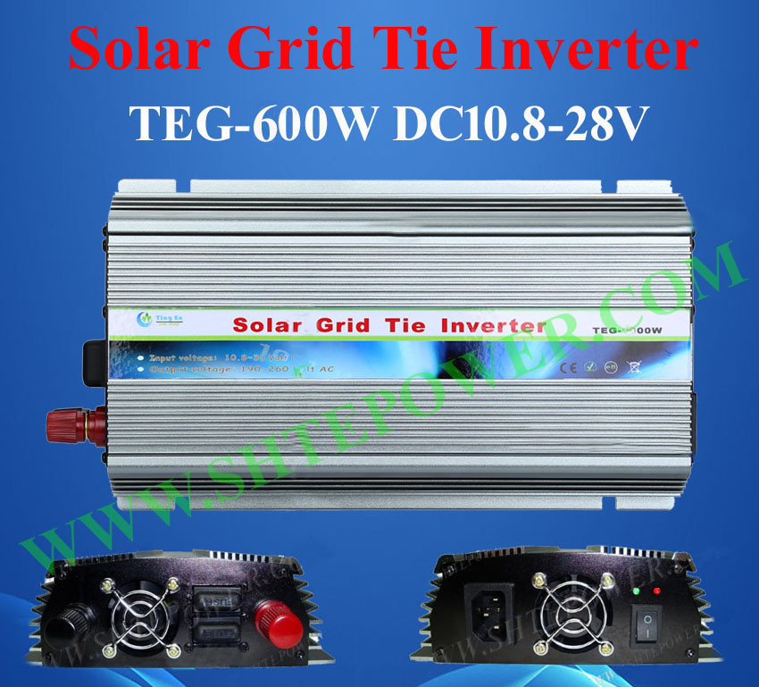 DC to AC 240v CE Rohs 24v solar grid connect inverter 600w(China (Mainland))