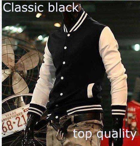 Men jackets coats baseball jacket uniform jerseys Chaquetas south korea men slim fit men sport suit tracksuits tops M,L XXL(China (Mainland))