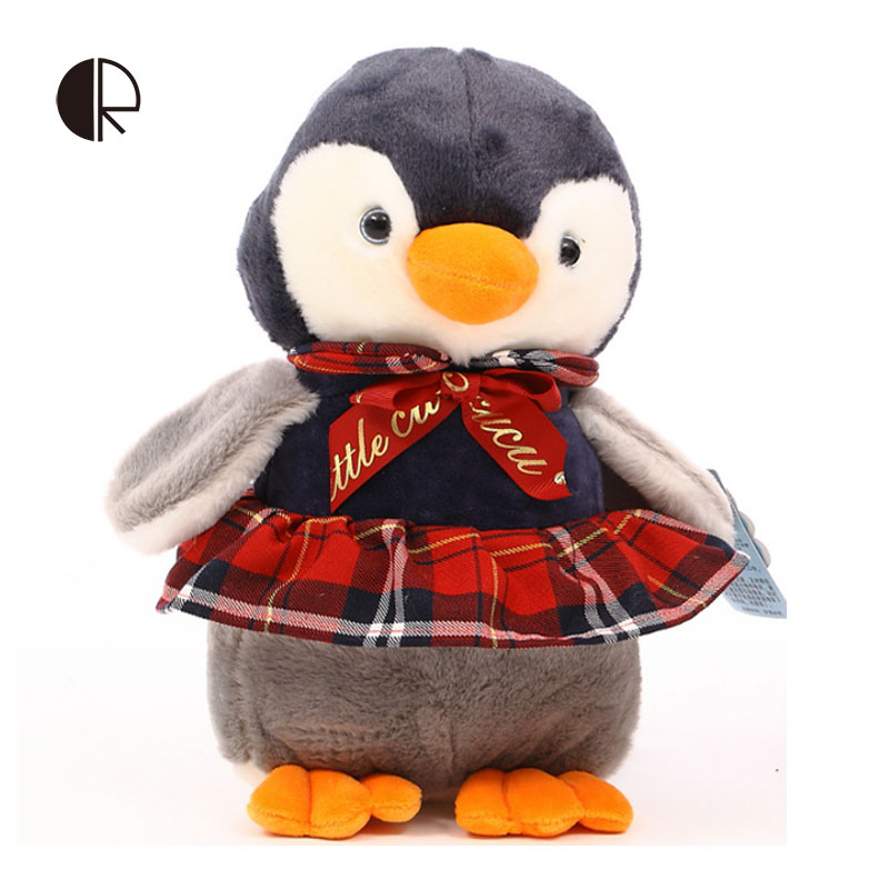 Kids Plush Toys 2016 Hot Sale Soft Cotton Kawaii Dress Penguin Toy Plush Doll Love Gift Children's Toy Peluches HT2797(China (Mainland))