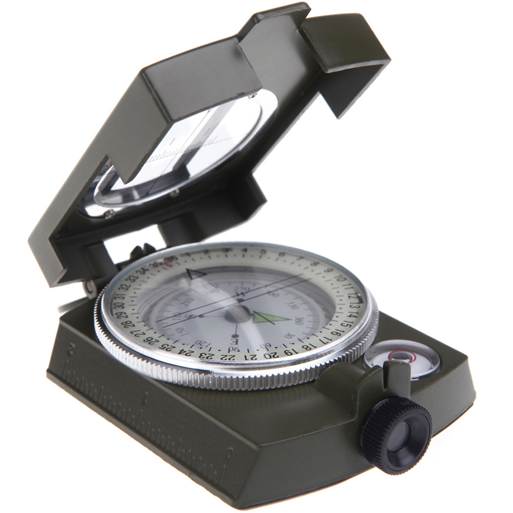 Portable Multifunction Compass Military Geology Lensatic Prismatic Travel Camp Hike Explore Light Function Compass Equipment(China (Mainland))
