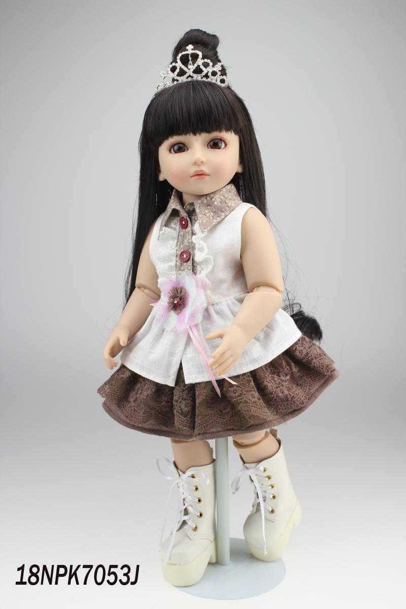 18inch 45cm Reborn baby Doll Ball Jointed Doll Full  Hard Vnyl Toy Girls Gift  for Kids Children Adora White Crown<br><br>Aliexpress
