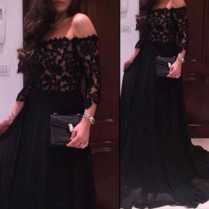 Черные длинные платья доставка