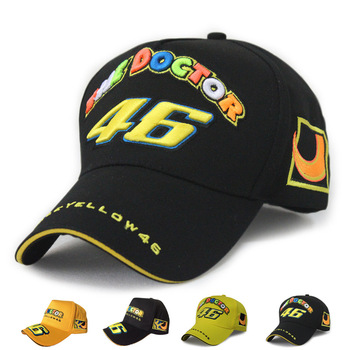 Wholesale Rossi 46 Embroidery Fashion Men Women Snapback Caps Hat Motorcycle Racing Cap Vr46 Sport Baseball Cap Snapback Caps