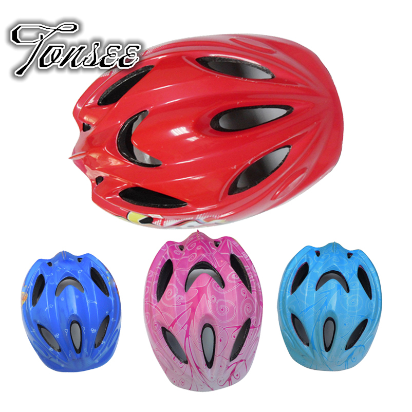Wholesale Sport Lovely Children Bicycle Helmet 10 Vents Hole Design Best Parents Protecter Kids Helmet Cycling Tonsee(China (Mainland))
