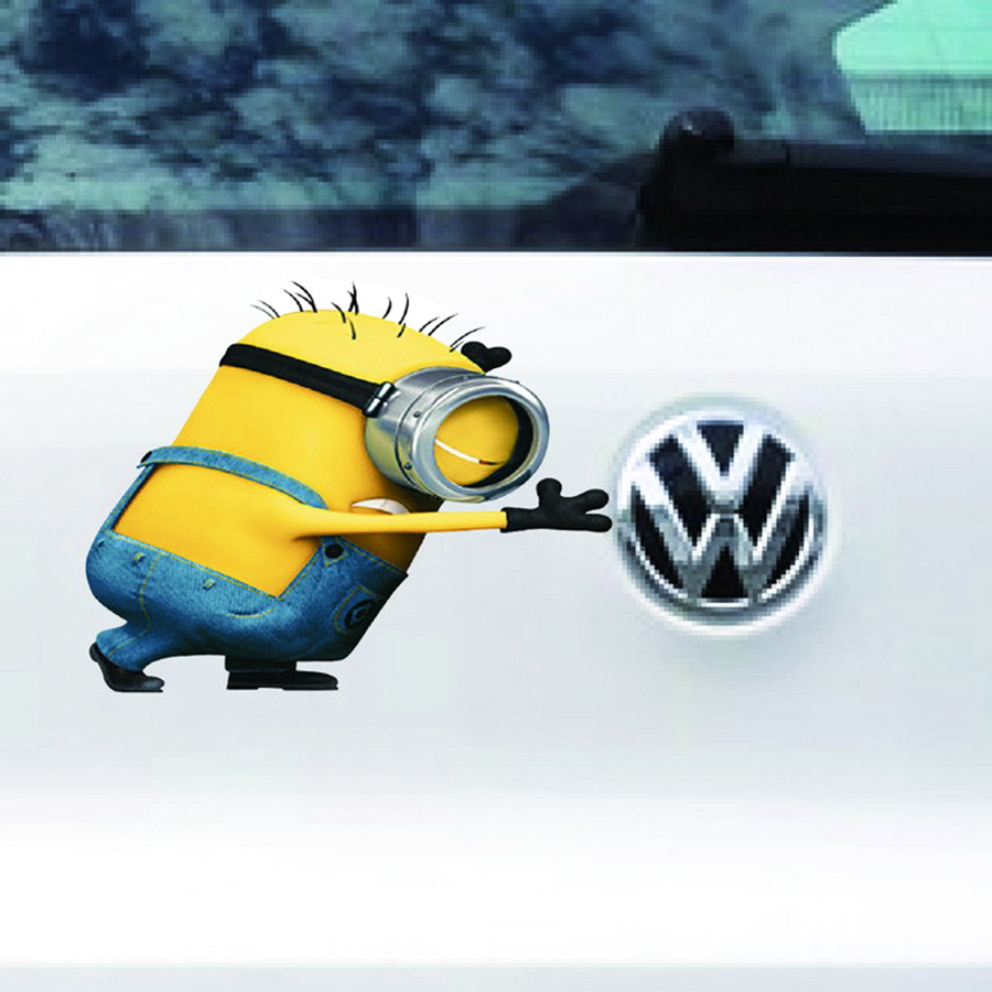 Cool 3D Waterproof Funny Despicable Me Minions Movie Cover Auto Car Vinyl Decal Truck Tail Stickers Beside Logo Self-adhesive(China (Mainland))