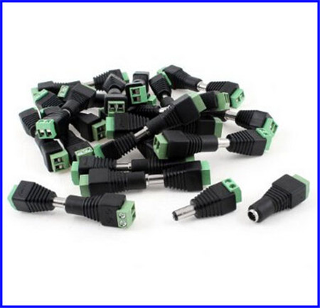 10 Pcs 12V 2 1 x 5 5mm DC Power Male Plug Jack Adapter Connector Plug