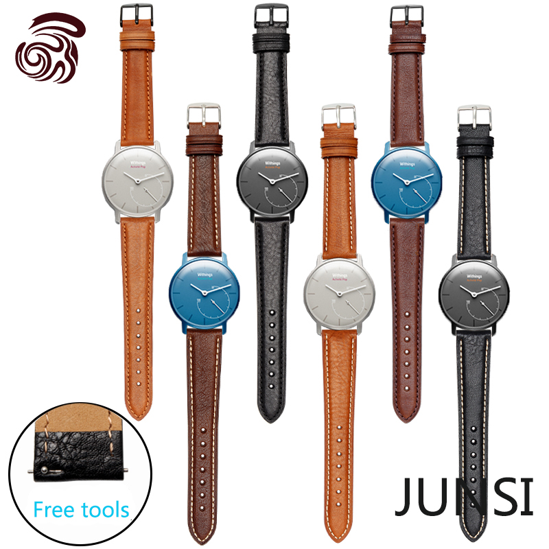 For Withings Activite/Activite Pop/Steel New Hot High Quality Genuine Leather Watchband 18mm Pin Buckle Smart Band(China (Mainland))