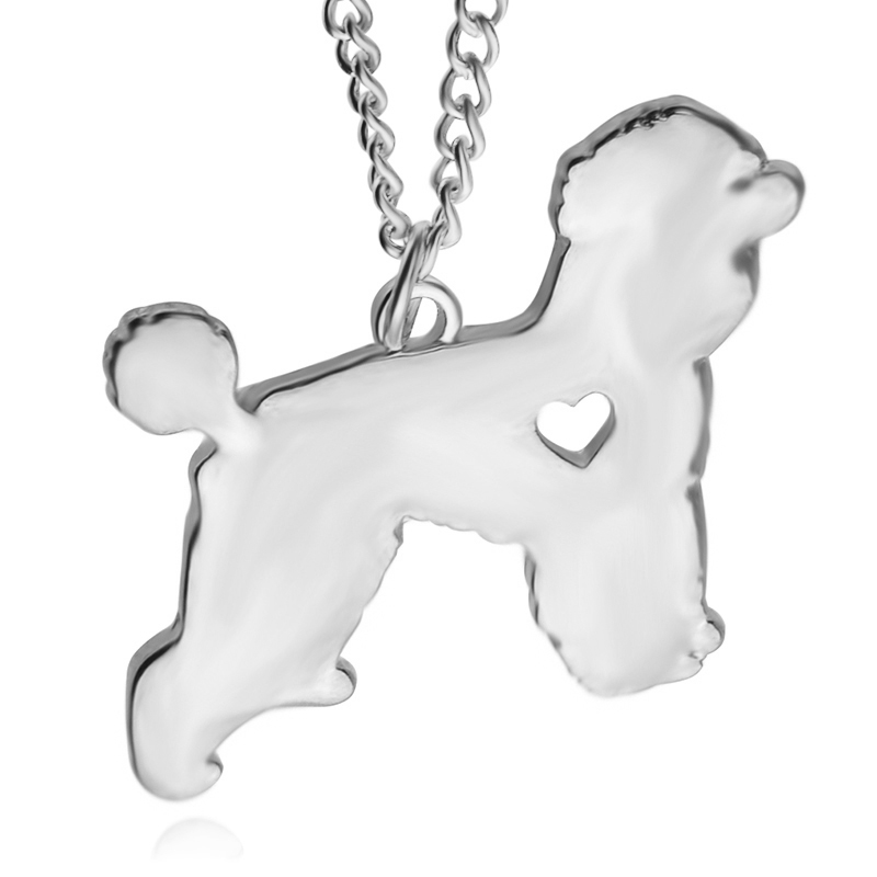 2016 Teddy dog Pendant Necklace Chain Fashion Jewelry 1pcs 3*3.3cm Creative small animal Pendant Necklace For Woman Man gift(China (Mainland))