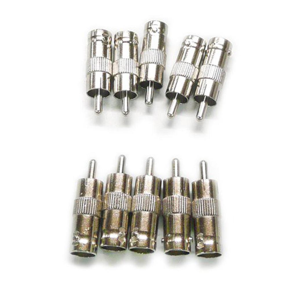 2015 Hot 10Pcs BNC Female TO RCA Male Plug COAX Adapter Connector(China (Mainland))