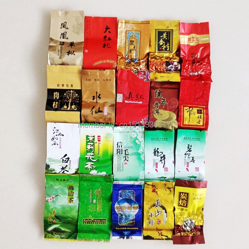 20 different flavors of tea, including green tea,pu er,Tie guan yin,oolong tea,Da hong pao,white/black tea,free shipping(China (Mainland))