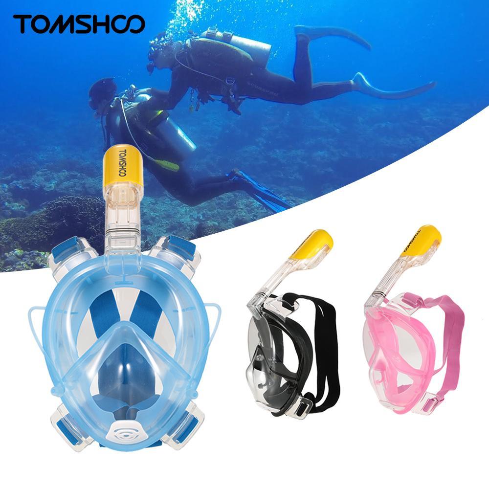 TOMSHOO D1120HY Diving Mask Easy Swimming Diving Snorkel Mask Underwater Anti Fog Full Face Diving Mask Snorkeling Set Earplug(China (Mainland))