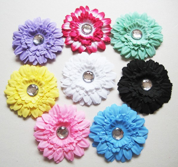 Free Shipping mix color 4.5'' Chiffon Flowers Hairclip DIY Fabric Flower Girl's Hair Accessories Handmade Flower FFCD026014(China (Mainland))