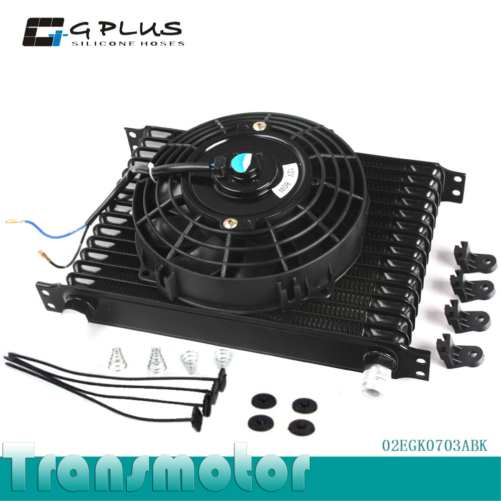 """Universal 15 Row 10AN engine Transmission Oil Cooler + 7"""" Electric Fan Kit(China (Mainland))"""