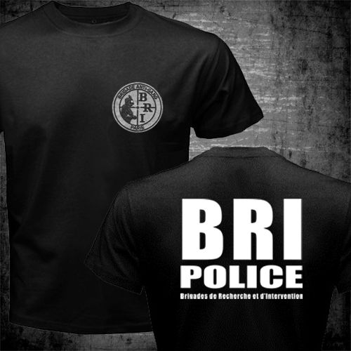 New Francais French Special Elite La police Forces Unit GIGN Raid BRI t-shirt homme Summer Style Men's fitness T Shirt(China (Mainland))