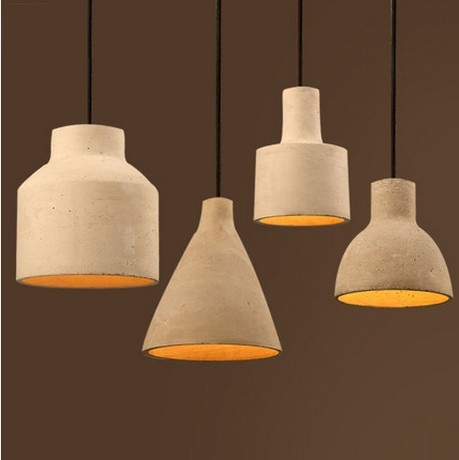 Фотография Retro Industrial Loft Style Creative Cement Droplight LED Pendant Light Fixtures For Dining Room Hanging Lamp Indoor Lighting