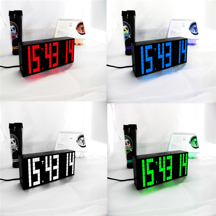 Ch kosda digital led alarm clock remote control countdown stopwatch clock timer large big wall - Giant stopwatch wall clock ...
