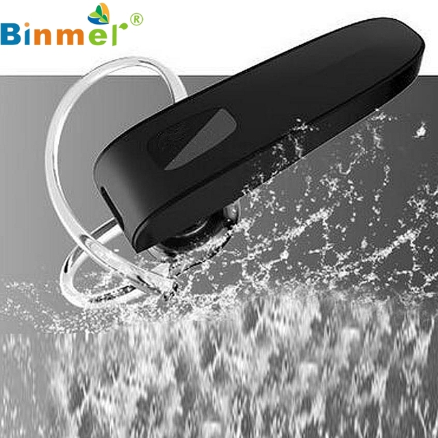 Binmer Stereo Bluetooth Wireless Earphone Earpiece Handfree Portable Noise Cancelling Headset For iPhone For Xiaomi Top Quality