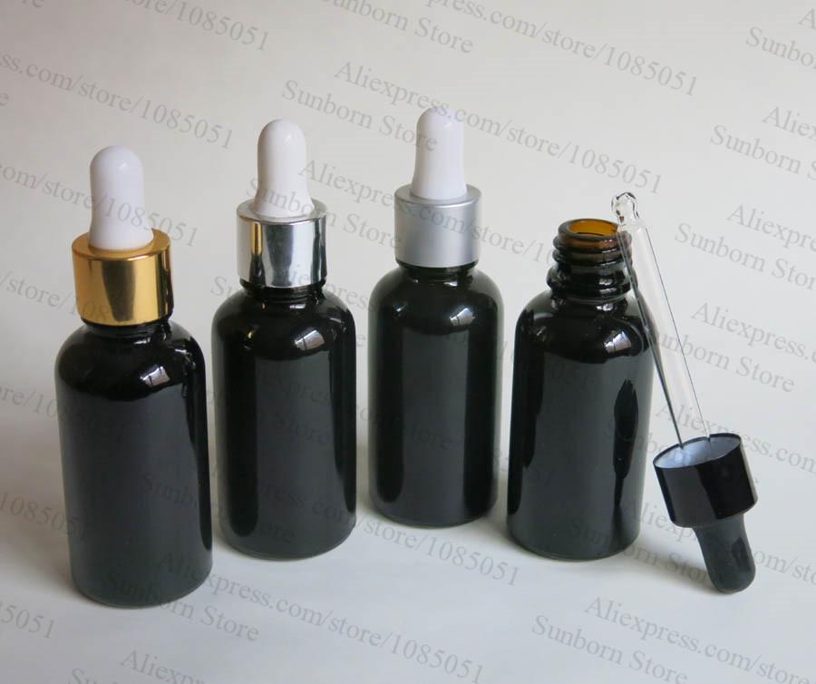 Free Shipping 1 Oz Black Glass Bottle Black Essentia Oil